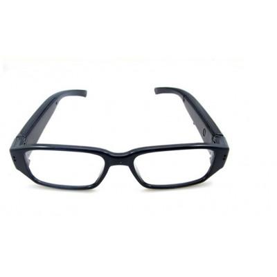 Skrytá Spy kamera v okuliaroch s čírymi sklami a podporou...