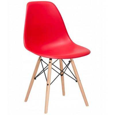 Dizajnová stolička SPRINGOS MILANO červená