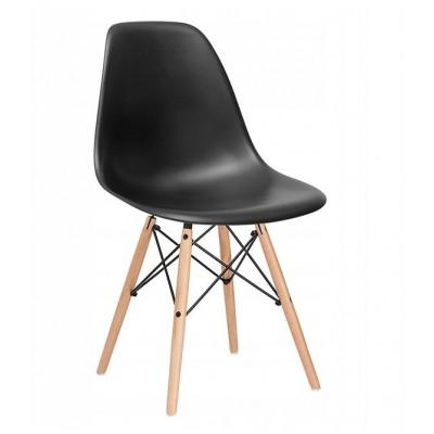 Dizajnová stolička SPRINGOS MILANO čierna