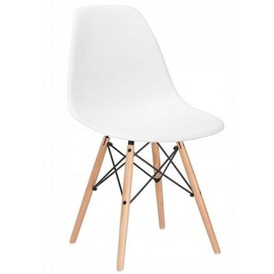 Dizajnová stolička SPRINGOS MILANO biela