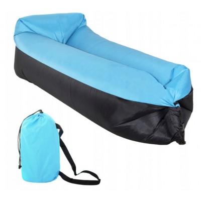 AL-DOP DUO Nafukovací vak Lazy Bag Modro-Čierny